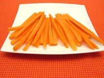 红萝卜菜丝汤 库存照片
