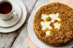 红萝卜蛋糕乳酪蛋糕 图库摄影