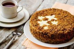 红萝卜蛋糕乳酪蛋糕 免版税库存照片