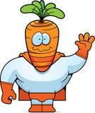 红萝卜超级英雄 库存照片