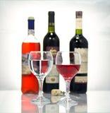 红葡萄酒。 免版税库存照片