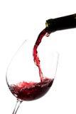 红葡萄酒倾吐 库存图片