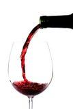 红葡萄酒倾吐 图库摄影
