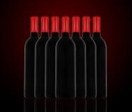 红葡萄酒和瓶 免版税图库摄影