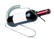 红葡萄酒瓶 免版税库存图片