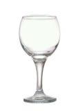 红葡萄酒的空的玻璃 库存图片