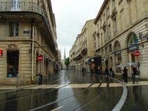 红葡萄酒街道  库存照片