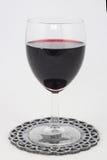 红葡萄酒豪美的glas  免版税库存图片