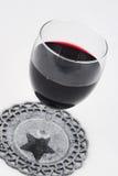 红葡萄酒豪美的glas  免版税图库摄影