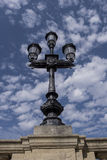 红葡萄酒路灯柱 免版税库存照片