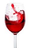 红葡萄酒飞溅 图库摄影