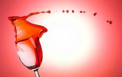 红葡萄酒飞溅 库存照片