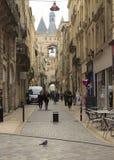 红葡萄酒,法国城市 图库摄影
