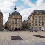 红葡萄酒, GIRONDE/FRANCE - 9月19日:大厦的看法 免版税库存照片