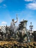 红葡萄酒, GIRONDE/FRANCE - 9月19日:对Girond的纪念碑 免版税库存照片