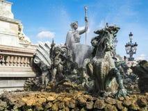 红葡萄酒, GIRONDE/FRANCE - 9月19日:对Girond的纪念碑 图库摄影