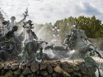 红葡萄酒, GIRONDE/FRANCE - 9月19日:对Girond的纪念碑 库存照片