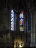 红葡萄酒, GIRONDE/FRANCE - 9月19日:污迹玻璃窗我 图库摄影