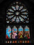 红葡萄酒, GIRONDE/FRANCE - 9月19日:污迹玻璃窗我 库存图片