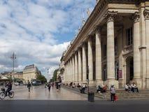红葡萄酒, GIRONDE/FRANCE - 9月19日:盛大Th的门面 库存图片