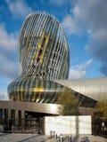 红葡萄酒, GIRONDE/FRANCE - 9月18日:观点的La Cite du Vin 库存图片