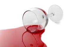 红葡萄酒玻璃 图库摄影