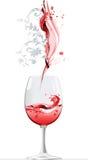 红葡萄酒 向量例证