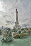 红葡萄酒des广场法国quinconces 库存图片