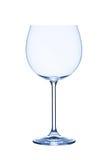 红葡萄酒glas,空,在白色背景,被隔绝 库存照片