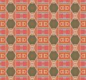 红褐色无缝的金刚石样式的赤土陶器 向量例证