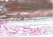 红褐色的斑纹的水墨画纹理 免版税图库摄影