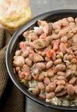 红豆和米 库存照片