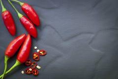 红辣椒食物背景 库存照片
