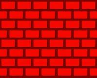 红颜色砖的无缝的例证阻拦墙壁纹理背景 免版税库存图片