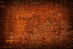 红颜色背景砖墙  免版税库存照片