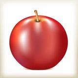红颜色苹果计算机  图库摄影