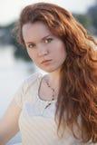 红头发人妇女 图库摄影