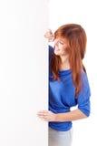 红头发人妇女 免版税图库摄影