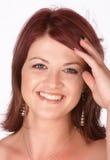 红头发人微笑 免版税库存照片