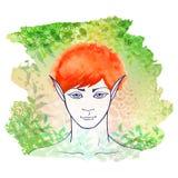 红头发人矮子 图库摄影