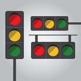 红绿灯传染媒介平的设计 免版税图库摄影