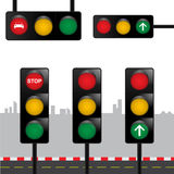 红绿灯传染媒介 库存照片