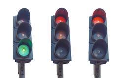 红绿灯动臂信号机 免版税库存照片
