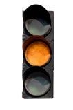 红绿灯的黄色信号 库存照片