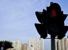 红绿灯转弯信号,红色=stop 库存图片