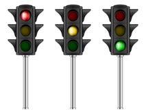 红绿灯集合 免版税库存照片