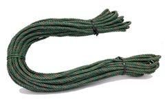 红绿的尼龙绳索 免版税库存照片