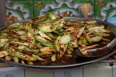纤巧和食物从缅甸 免版税库存照片