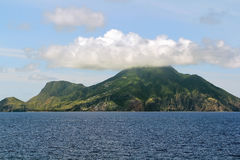 纤管火山在圣尤斯特歇斯 库存照片