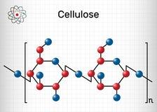 纤维素多聚糖分子 o 结构化学式 皇族释放例证